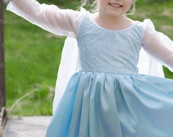 Beautiful Elsa Frozen Inspired Snow Queen Princess Costume Gown