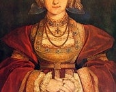 Fine Art Print - Anne of Cleves by Holbein the Younger - Masterpiece Painting - Reproduction Print - 12 x 10