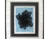 Radiate Paper Sculpture- Handcut Original, Watercolor, Framed
