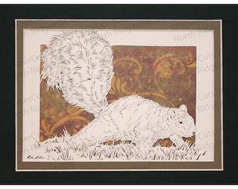 Squirrel Papercutting- Handcut Original