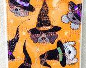 Fabric Jigsaw Puzzle - Glittery Halloween Dog Witch