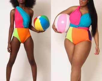 Bright Delight Convertible Swimsuit S M L 1X 2X 3X