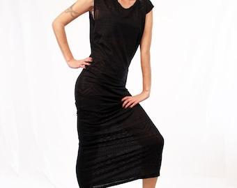 Agoraphobix The Asteria Streetwear maxi dress - in tribal knit