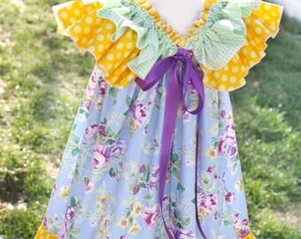Criss cross tunic pattern ebook reversible pdf 3m 12 girls ruffle dress pattern sweet baby doll newborns through 12 girls instant fandeluxe PDF