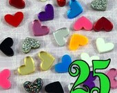 MINI HEART CABS - 25 Piece Lot Made From Laser Cut Acrylic