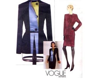 Designer Womens Suit Sewing Pattern - Vogue 2045 - Geoffrey Beene - Jacket / Straight Skirt - Size 8-10-12 - Uncut
