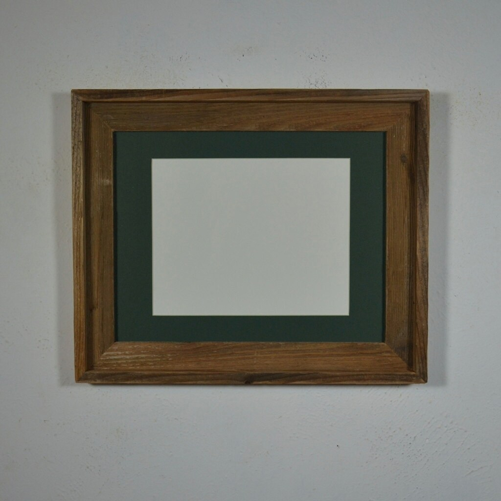 Reclaimed Wood Frame 11x14 With Mat Beautiful Light Brown
