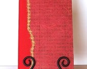 Journal Lined or Blank Cherry Red Unryu-Great for Journal, Diary, Travel Journal, Health Journal and Gift