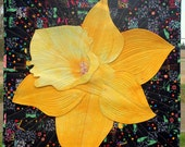 Celebrate Spring Quilted Art Wall Hanging - Blooming Daffodil - Heirloom