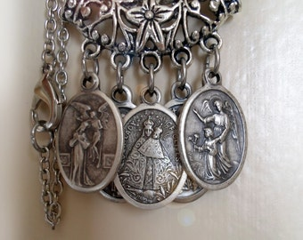 A Prayer for Prosperity, Employment, Financial Opportunity, 5 Holy Medal Necklace, St. Joseph the Worker, St. Martha, Our Lady of Olives