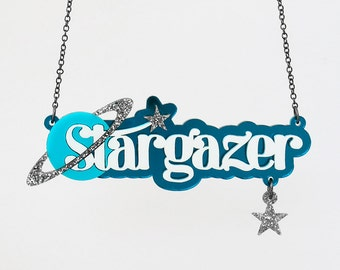 Stargazer Necklace - Laser Cut Necklace (C.A.B. Fayre Original Design)