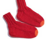 Hand-knitted Walker/Toddler Wool Blend Socks - MADE IN FINLAND