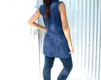 Porcelain Tunic ~ Cowl Dress ~ Hemp & Organic Cotton Fleece ~ Made to Order