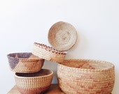 Vintage Southwestern and Native Basket Collection - geometric, planter, ombre