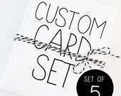 Card Set of 5 - Pick Any 5 Cards of Your Choice