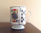 Pedestal Playing Cards Coffee Mug