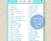 Printable Summer To Do List,Printable Summer Bucket List,Summer Activity List,Summer Vacation List,Summer Ideas List,Summer Plans List