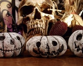 Ghost Jack O'Lanterns Set of Three