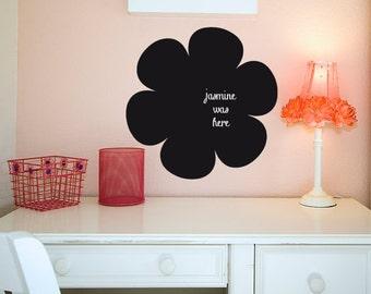 Black Chalkboard Flower Wall Decal, Chalkboard Sticker, Daisy Flower Decal, Office wall decals, Playroom Chalkboard, Classroom Wall Decor
