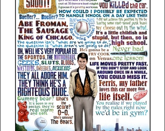 Ferris Bueller Life Moves Pretty Fast Quote Endearing Life Moves Pretty  Etsy