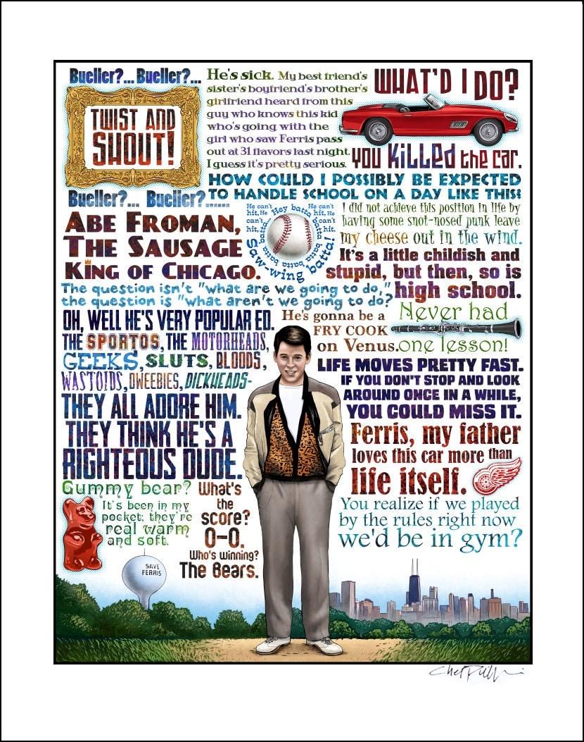 Life Moves Pretty Fast Ferris Bueller's Day Off tribute