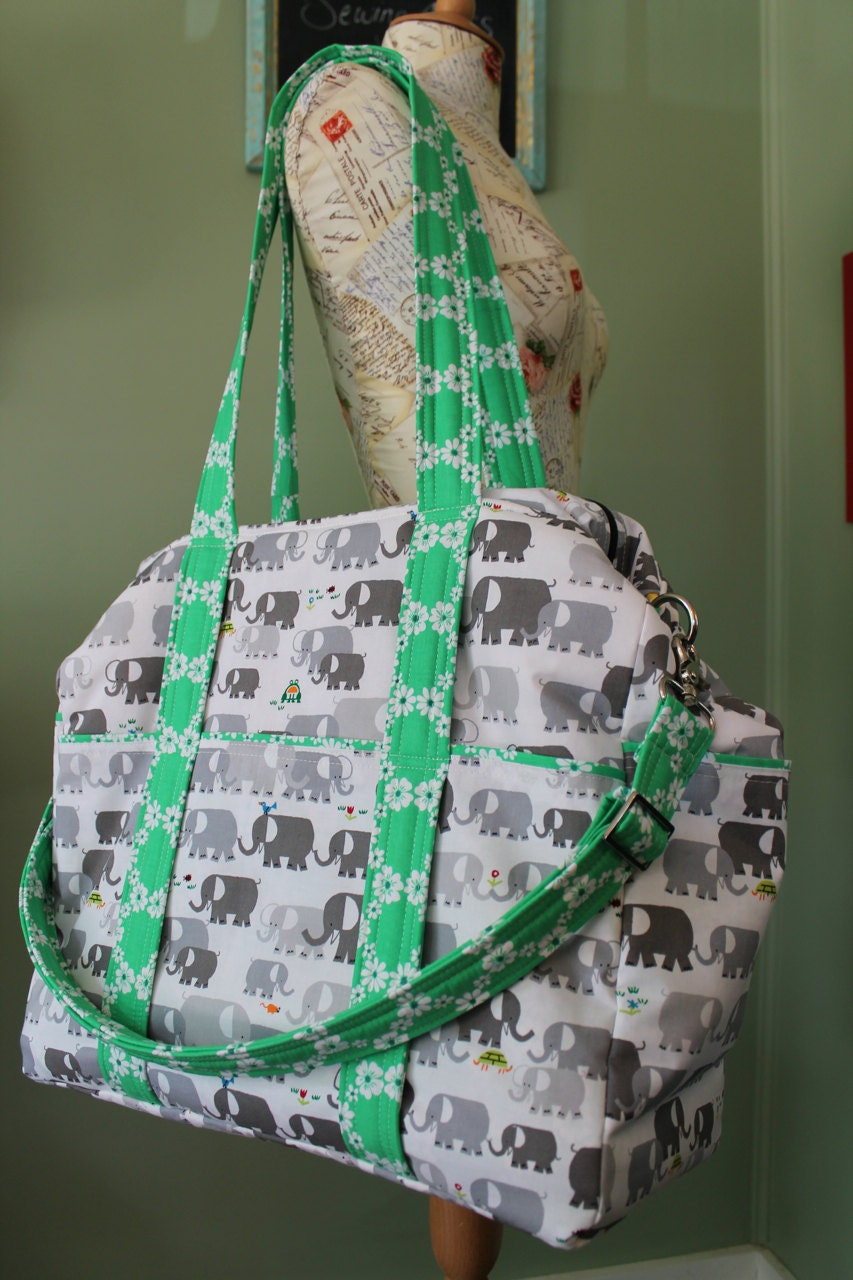 watermelon wishes large diaper bag for twins or triplets. Black Bedroom Furniture Sets. Home Design Ideas