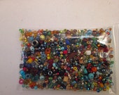 Glass Seed Beads, Assortment Seed Beads, Bead Soup, Grab Bag, QTY 45 Grams bs1
