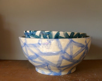 patterned ceramic bowls