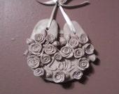 Horseshoe Wedding Handfasting Pale Pink Roses Handmade
