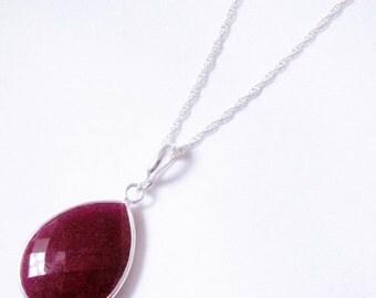 For Jill, Genuine Ruby Enhancer BZ-ENH-106-Ruby/s No Chain