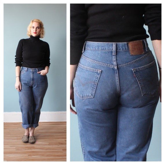 plus size levis / levi jeans / high waist jeans by brownbagvintage