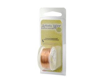 Artistic Wire 34 Gauge Natural Copper with Dispenser 43099 Round Wire, Jewelry Wire, Craft Wire, Copper Wire,  34ga Soft Temper Wire