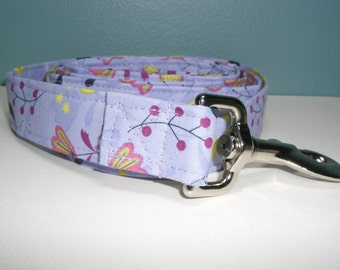 Lilac Floral Dog Leash