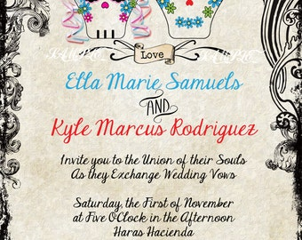 Sugar Skull Invitations
