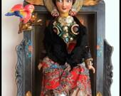 FRIDA KAHLO SITTING Altar by Lauretta Lowell