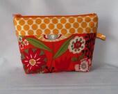 Clearance Cosmetic Bag, Makeup Organizer Wallet, Makeup Bag, Zipper Pouch, Toiletry Bag Kaori Floral, Ready to Ship
