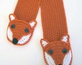 Fox Pocket Crochet Scarf Pattern - PDF