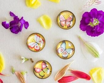 Magnet Set | Bright Butterflies | Refrigerator Magnets | iPop | Katie Daisy
