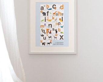 Animal Alphabet, ABC Print