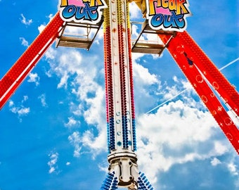 Freak Out Carnival Ride Fine Art Print- Carnival Art, County Fair, Nursery Decor, Home Decor, Children, Baby, Kids