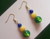 BELA BRASIL Dangle Earrings Inspired by National Flags - South America