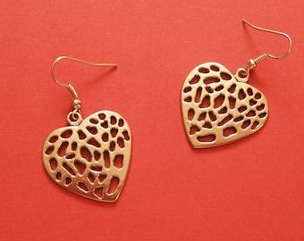 PEEKABOO HEART EARRINGS - Modern Simple Casual Chunky Jewelry