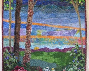 Time of Day- quilted wall-hanging