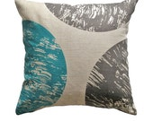 Throw Pillow Cover - 'Curve - Blue'
