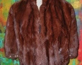 Go-Go-Gorgeous Vintage Chocolate Fur Capelet in Mint Condition