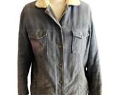 Vintage Lined Bomber Jacket