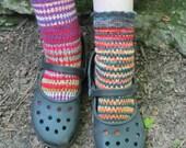 knit sock pattern pack combo - saturn and balance rock socks easy toe up sock knitting patterns by Anastacia Knits