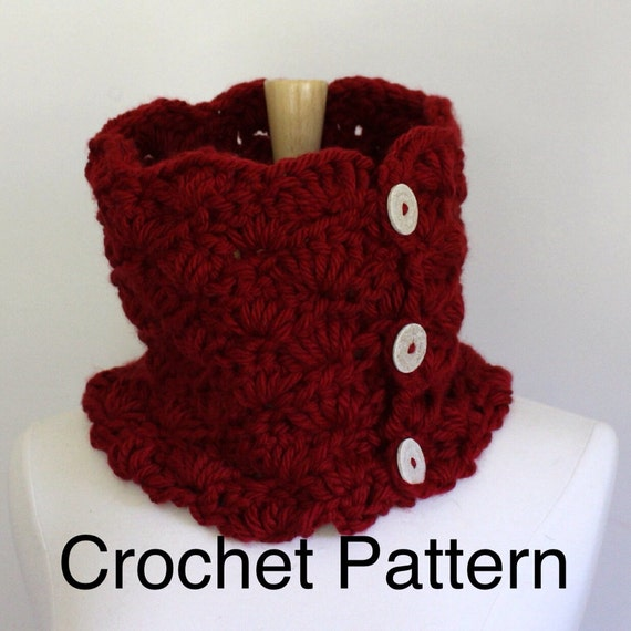 Crochet Shawl Patterns Bulky Yarn : Crochet cowl pattern bulky yarn pattern chunky scarf