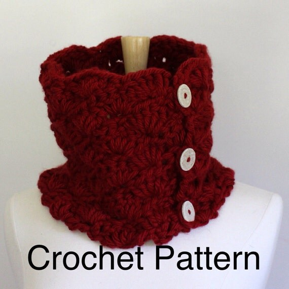 Crochet Shawl Patterns With Bulky Yarn : Crochet cowl pattern bulky yarn pattern chunky scarf