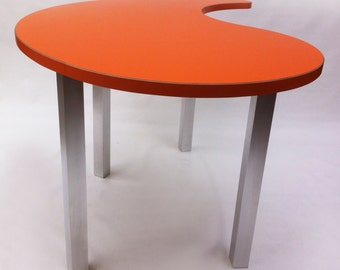 custom standing desk kidney shaped mid. activity table standing height cafe bar interview aluminum legs w custom desk kidney shaped mid s